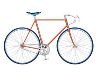 Orange Single Speed Bike