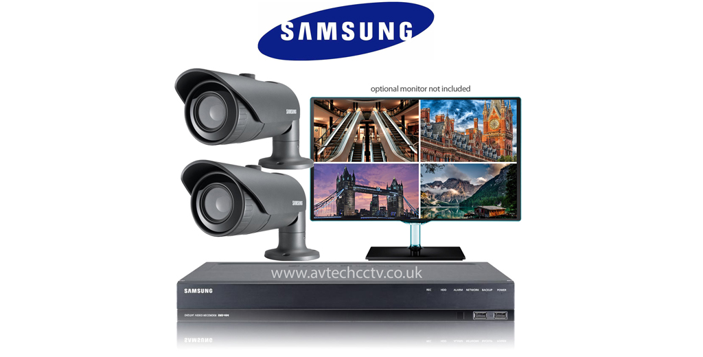 2 Samsung Cctv Wisenet Hd Security Camera System With