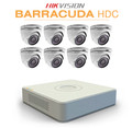 8 Hikvision Barracuda wide angle dome cameras with TurboHD DVR