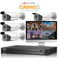 4 Hikvision Casino-5 CCTV DS-2CE16F7T-IT5 camera kit with DVR Recorder