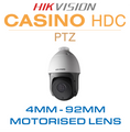 Hikvision Casino PTZ - Pan, Tilt and Zoom feature with 150m Nightrange