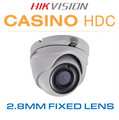 Hikvision Casino Dome - 20 metres Nightvision DS-2CE56F7T-ITM(2.8MM)