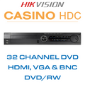 Hikvision Casino 32 DVD Channel DVR with HDMI, VGA & BNC Outputs