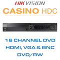 Hikvision Casino 16 DVD Channel DVR with HDMI, VGA & BNC Outputs
