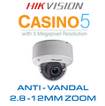 Hikvision Casino-5 Anti-Vandal Dome with 2.8mm - 12mm zoom lens DS-2CE56H1T-VPIT3Z