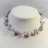 Grey Keishi Pearl Necklace