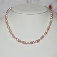 Pink Opal & Pearls Set