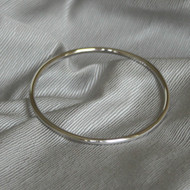 Sterling Silver Bangle With Rhodium Plating