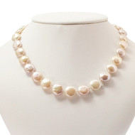 Coin Pearl Necklace & Earrings Set