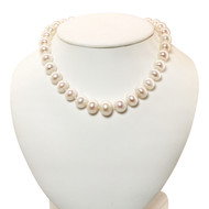 Graduated Baroque Pearl Necklace & Earrings
