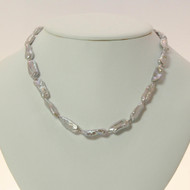 Silver Biwa Pearl Necklace