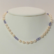 Tanzanite & Pearl Necklace