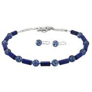 Lapis Lazuli & Murano with Silver Set