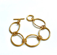 Gold Vermeil Oval Links Bracelet