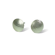 Small leaf patterned silver studs