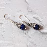 Silver & Lapis Drop Earrings