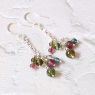 Tutti Fruity Colours of Mixed Tourmaline Drop Earrings