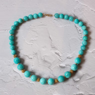 Amazonite with Gold Vermeil.