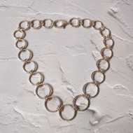 Handmade Hammered Finish Chain Necklace