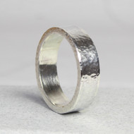 Heavy Textured Sterling Silver Ring