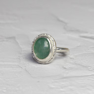 Jade  and Silver Ring