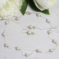 Cotton Pearls On Sterling Silver