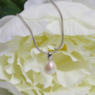 12mm Drop Shaped Freshwater Pearl Pendant