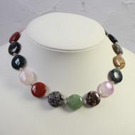 Multi Coloured Semi Precious Stone Necklace