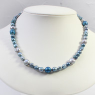 Blue & Grey Freshwater Pearl Necklace