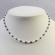 Sapphire and Seed Pearl Necklace