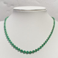 Emerald Green, Graduated Onyx & Gold Necklace