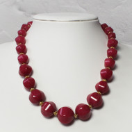 Ruby Necklace with Gold Vermeil