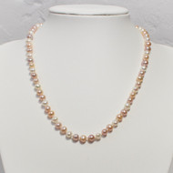 6mm Natural Colour Freshwater Pearl Necklace