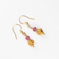 Ruby And Gold Vermeil Earrings