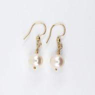 10mm Round Freshwater Pearl Drop Earring