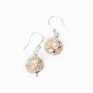 Sterling Silver Embossed Earrings