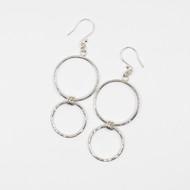 Sterling Silver Hammer Textured Hoop Earrings