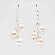 Silk Pearl Tassel Earrings