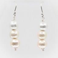 Silk Pearl Stack Earrings