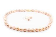 9 - 10mm Natural Colour Baroque Pearl Set