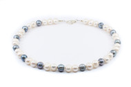 Silvery Grey And Cream Freshwater Pearl Set