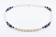 Lapis Lazuli Sterling Silver & Pearls Set