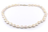 10mm Silvery White Coin Shaped Freshwater Pearl Set