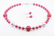 Happy Pink Murano With Swarovski Crystals And Pearls