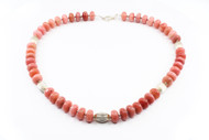 Bold Peruvial Pink Opal & Silver Necklace