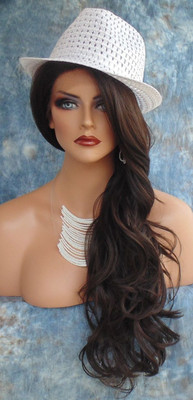 COLOR #4 Lace Front Wig LONG DELICATE WAVES SEDUCTIVE HOT STYLE US SELLER 176