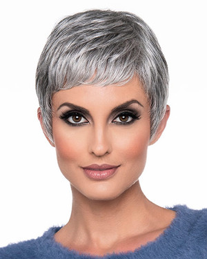 Fiona - Envy Wigs - Front view - Medium Grey