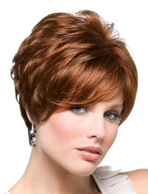 Gia synthetic wig by Rene of Paris front view 4