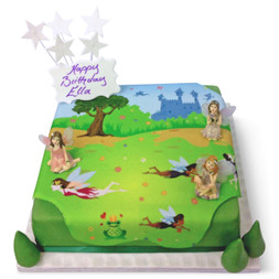 Fairy Garden Birthday Cake