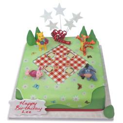 Poohs Picnic Birthday Cake
